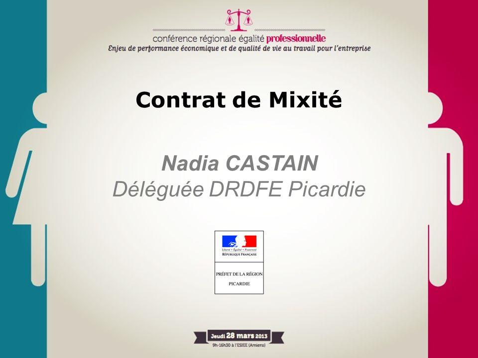 Contrat de Mixité Nadia CASTAIN Déléguée DRDFE Picardie