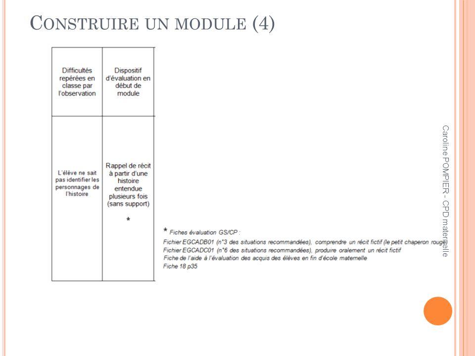 Caroline POMPIER - CPD maternelle C ONSTRUIRE UN MODULE (4)