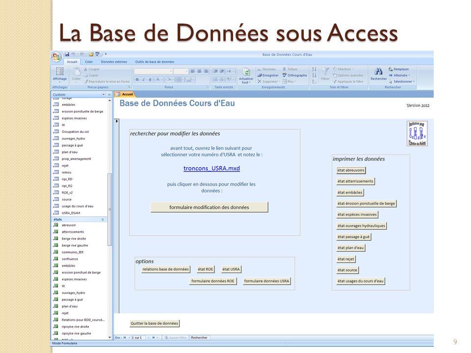 La Base de Données sous Access 9