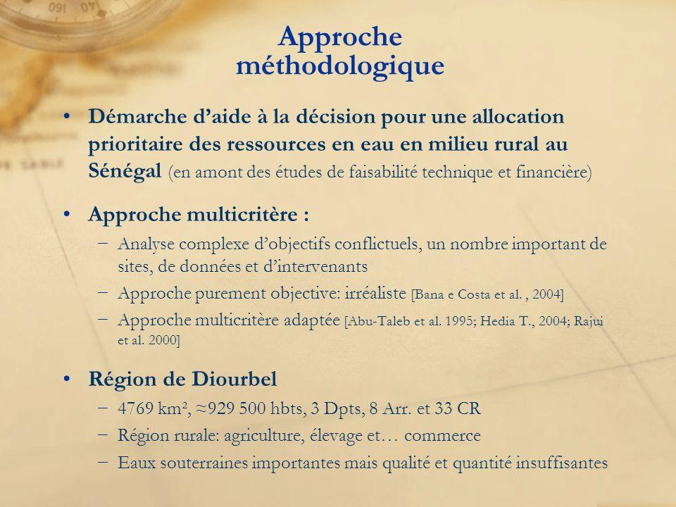 Approche méthodologique Démarche daide à la décision pour une allocation prioritaire des ressources en eau en milieu rural au Sénégal (en amont des ét