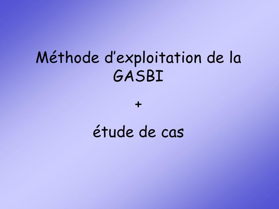 Méthode dexploitation de la GASBI + étude de cas