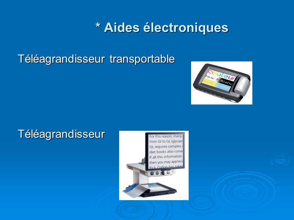* Aides électroniques Téléagrandisseur transportable Téléagrandisseur