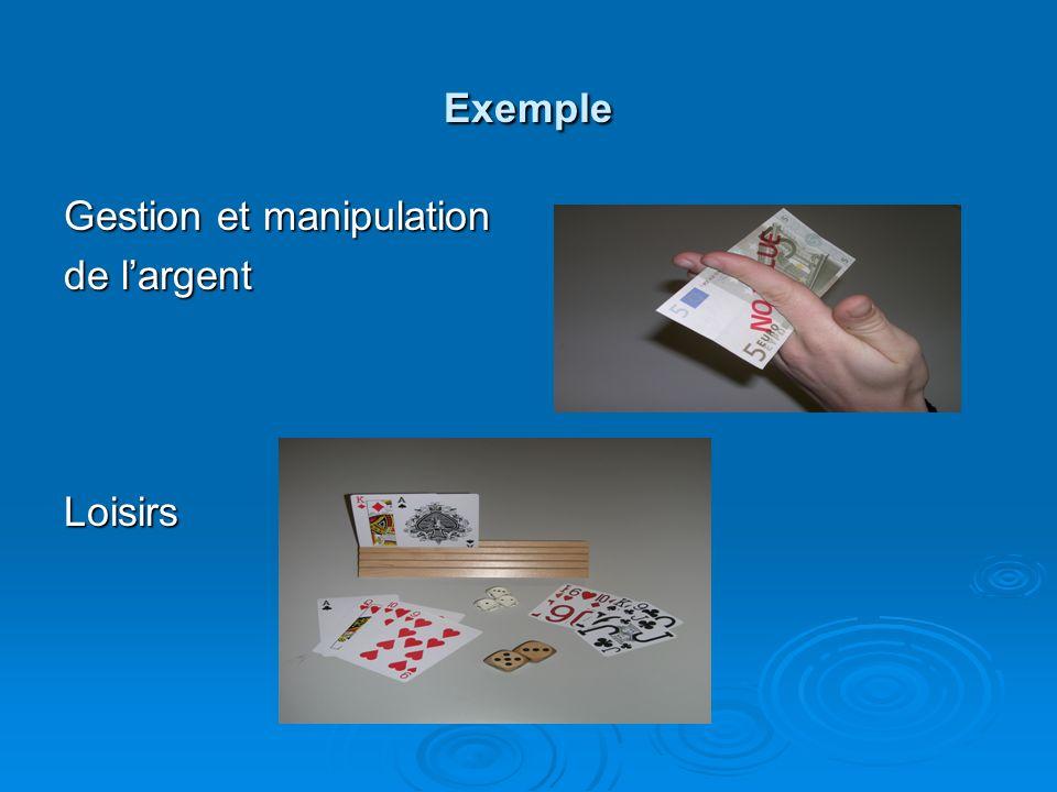 Exemple Gestion et manipulation de largent Loisirs