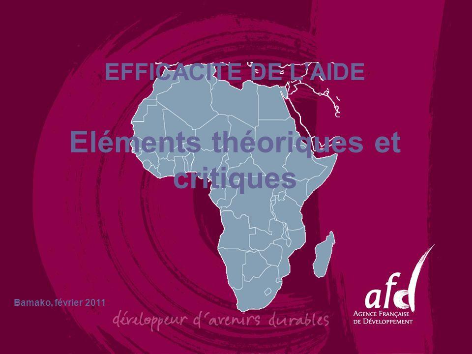 EFFICACITE DE LAIDE Eléments théoriques et critiques Bamako, février 2011