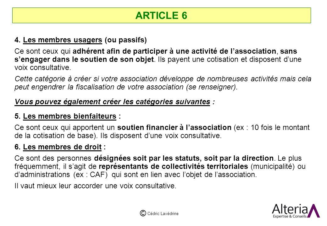 Cédric Lavédrine © ARTICLE 6 4.