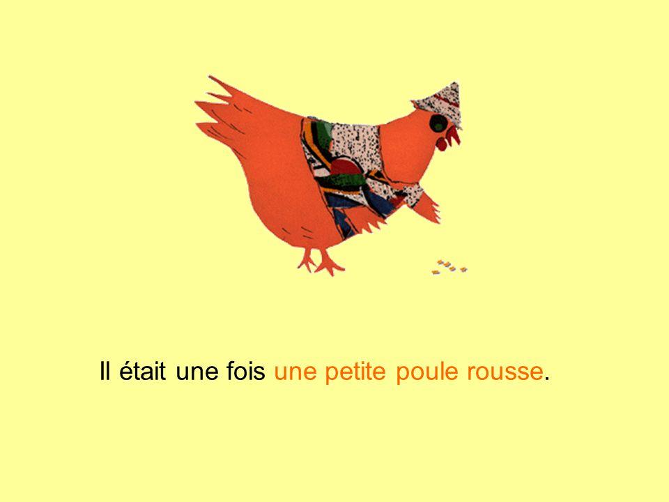 Alors la petite poule rousse va toute seule moissonner les épis de blé.
