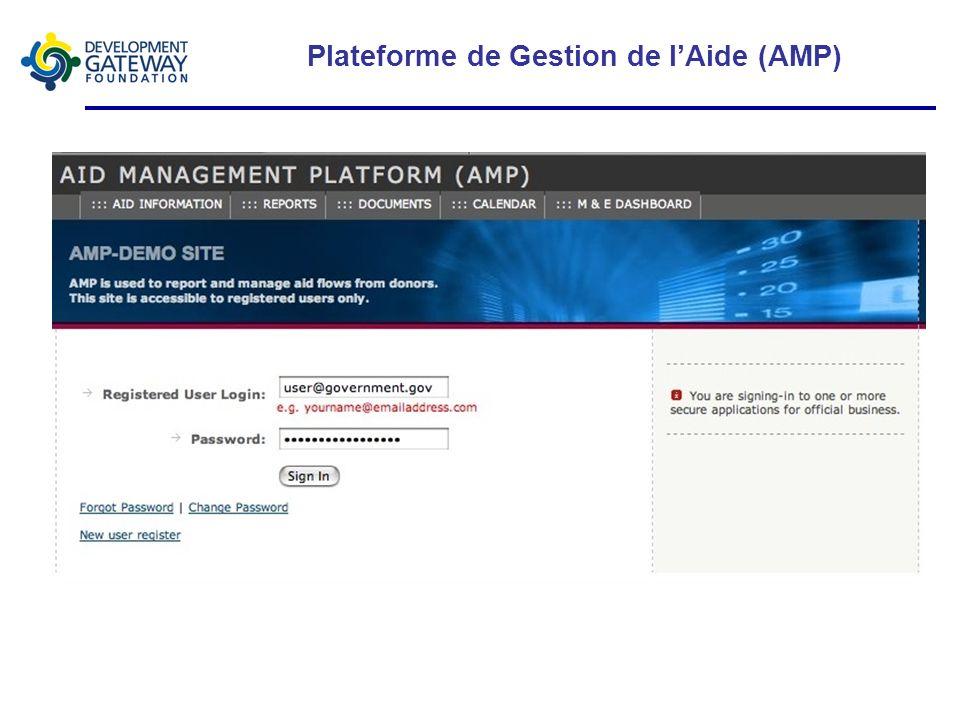 Plateforme de Gestion de lAide (AMP)