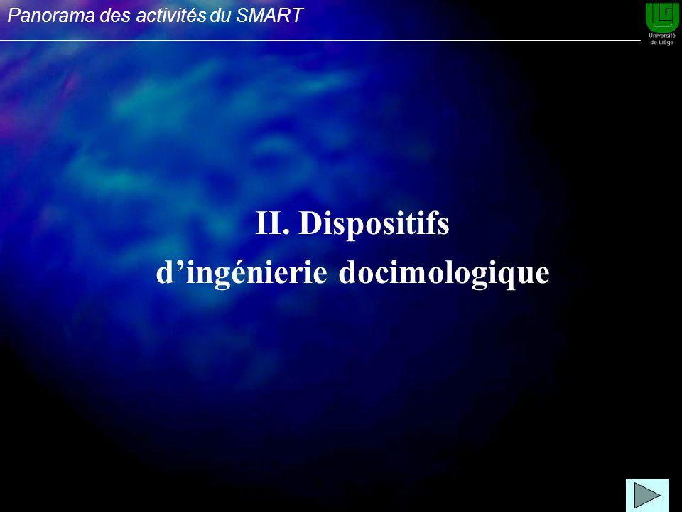 II. Dispositifs dingénierie docimologique Panorama des activités du SMART