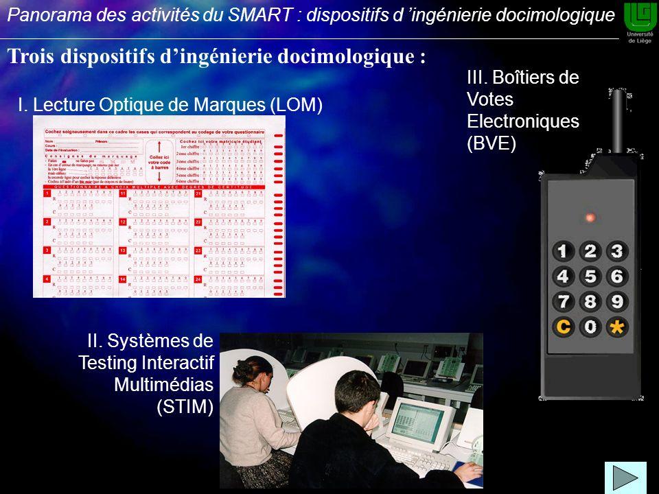 II. Systèmes de Testing Interactif Multimédias (STIM) III.