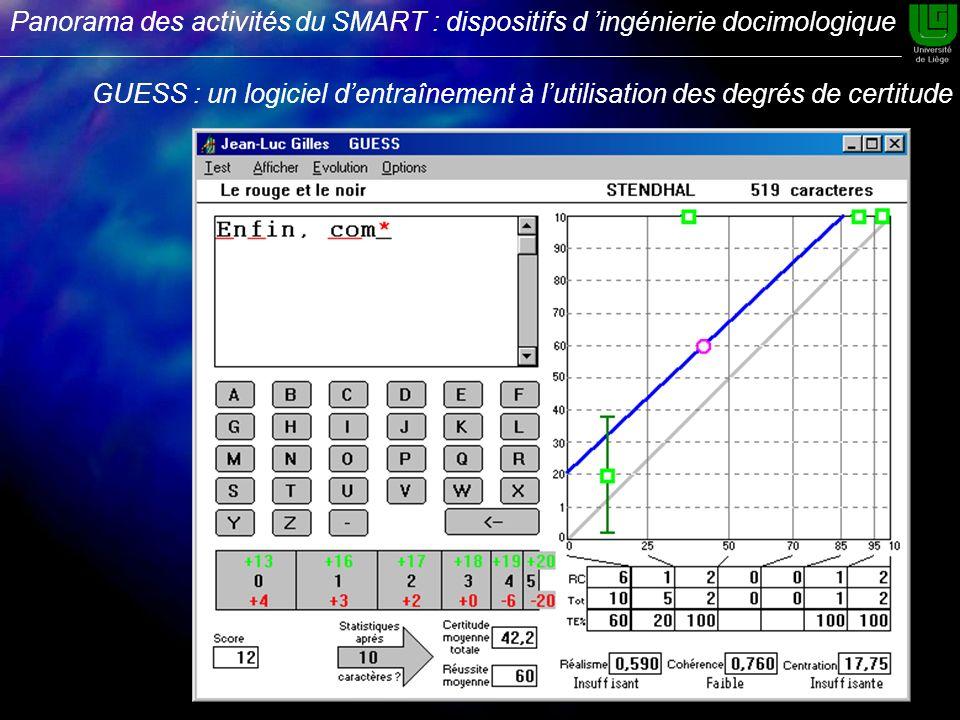 GUESS : un logiciel dentraînement à lutilisation des degrés de certitude