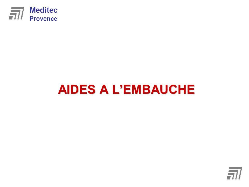 AIDES A LEMBAUCHE Meditec Provence