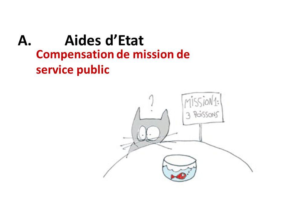 Compensation de mission de service public A. Aides dEtat