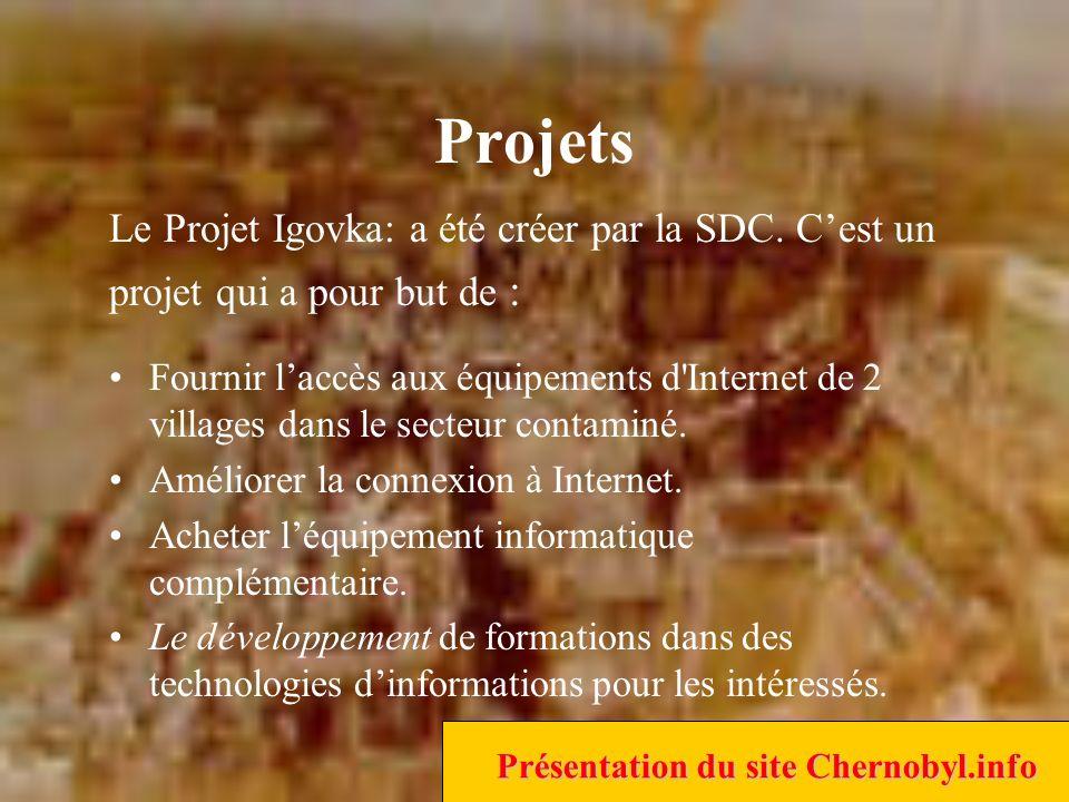 Projets Fournir laccès aux équipements d Internet de 2 villages dans le secteur contaminé.