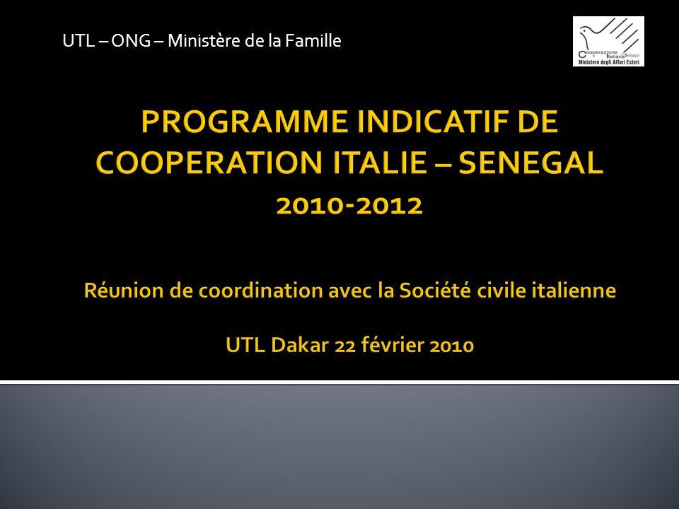 UTL – ONG – Ministère de la Famille