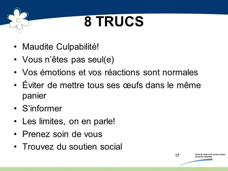 8 TRUCS Maudite Culpabilité.