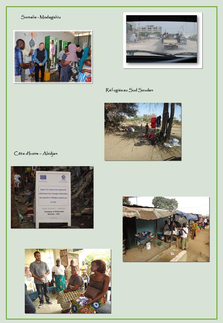 Somalie - Modagishiu Côte dIvoire – Abidjan Réfugiés au Sud Soudan