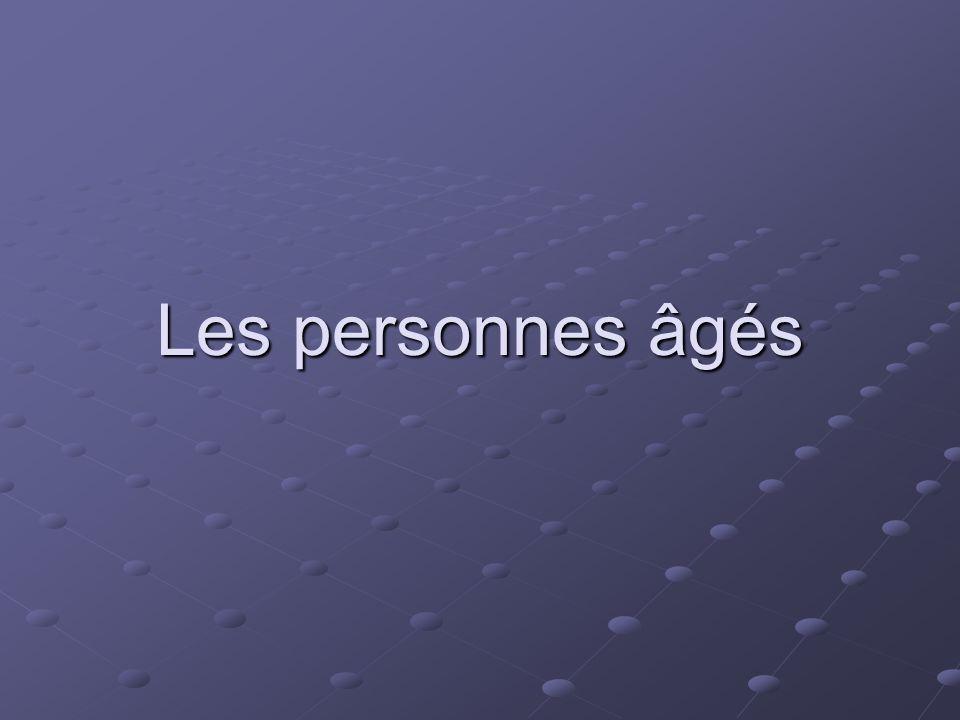 Les personnes âgés