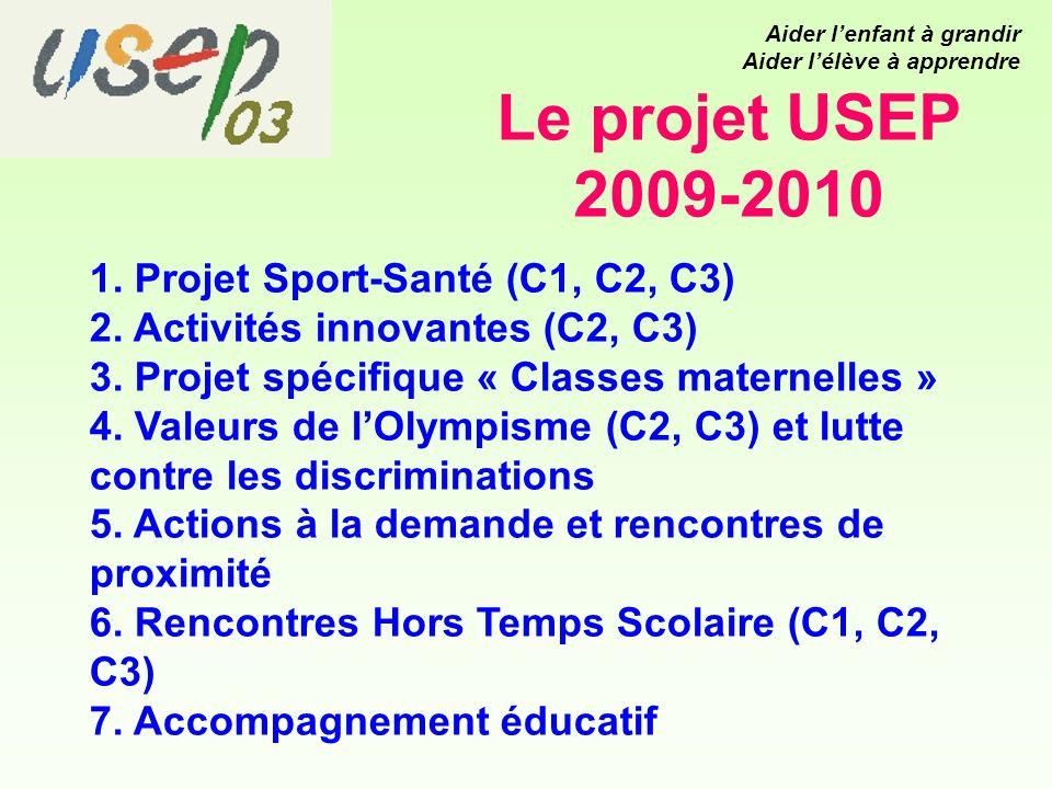Le projet USEP 2009-2010 1. Projet Sport-Santé (C1, C2, C3) 2.