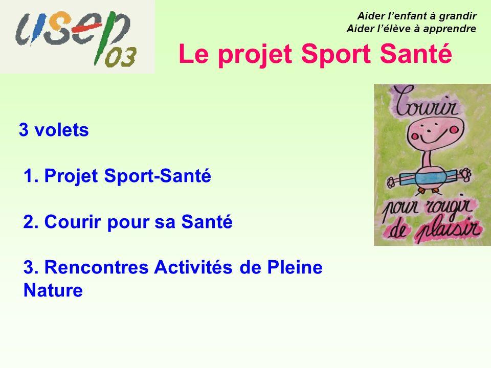 Le projet Sport Santé 3 volets 1. Projet Sport-Santé 2.