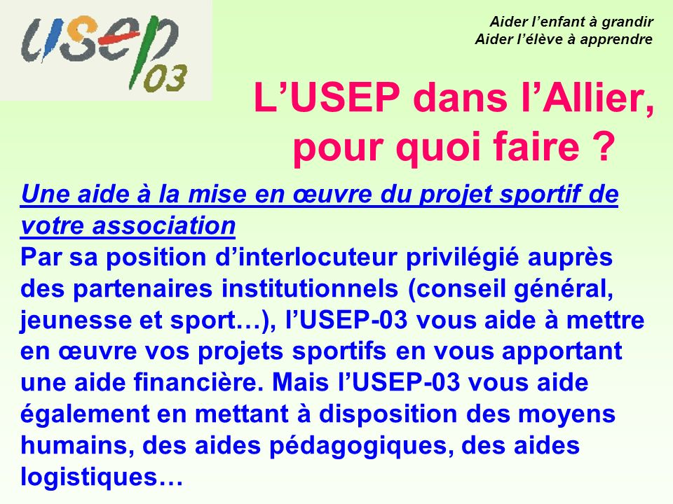Le PELM Sur Montluçon, tous les mercredis le Patronage Laïque organise des activités sportives dans le cadre de lUSEP.