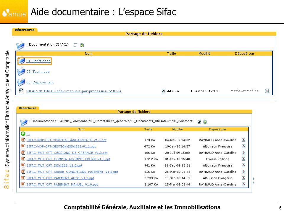 S i f a c Système dInformation Financier Analytique et Comptable Comptabilité Générale, Auxiliaire et les Immobilisations 257 Edition dune facture de vente Transaction VF03