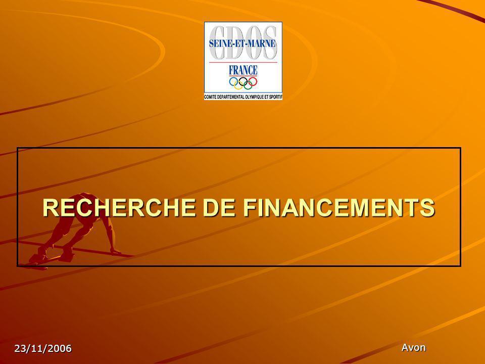 23/11/2006 Avon RECHERCHE DE FINANCEMENTS