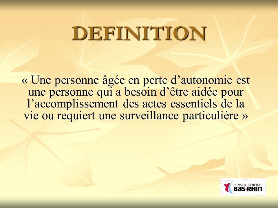 LAllocation Personnalisée dAutonomie (APA) Loi du 20 Juillet 2001.