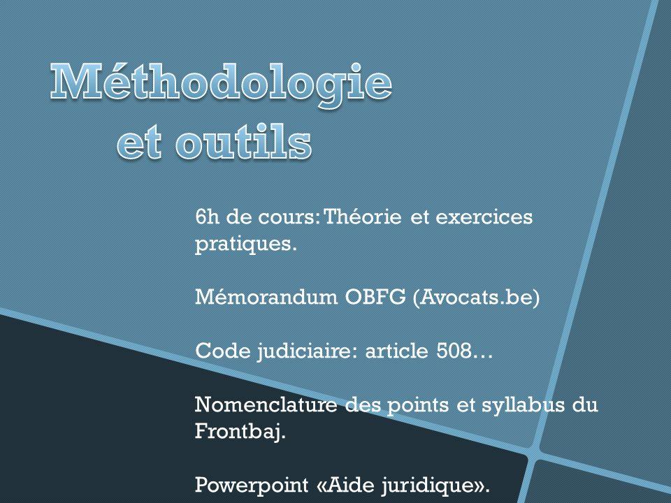 6h de cours: Théorie et exercices pratiques.