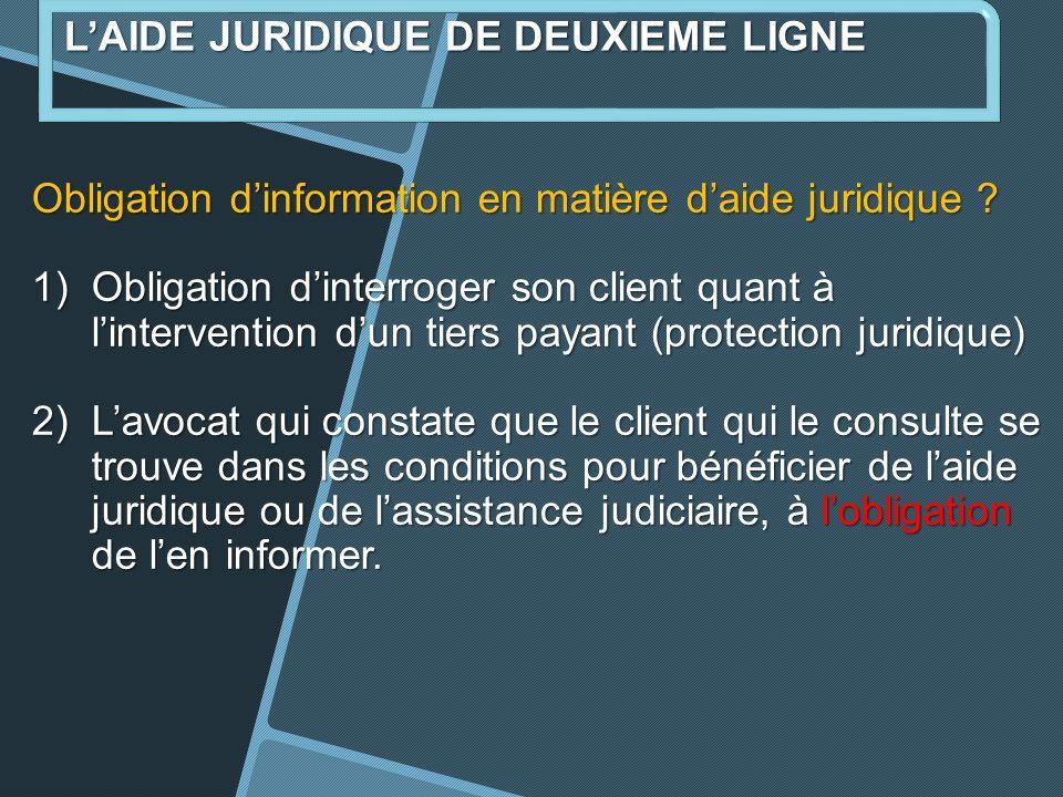 Obligation dinformation en matière daide juridique .