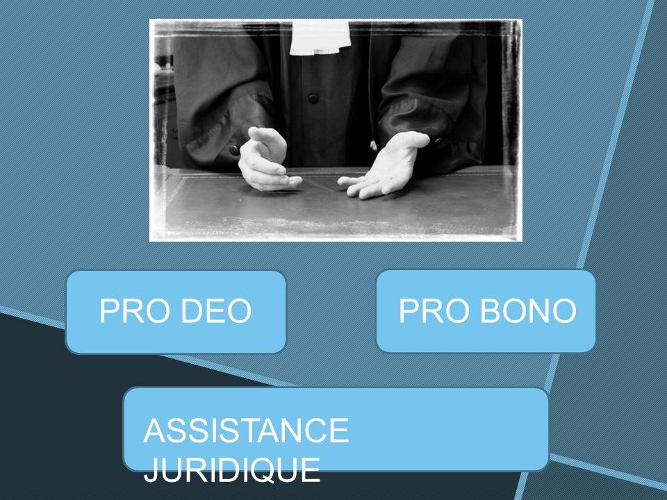 PRO DEOPRO BONO ASSISTANCE JURIDIQUE