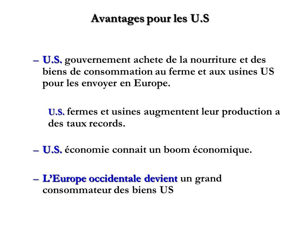 Avantages pour les U.S –U.S.
