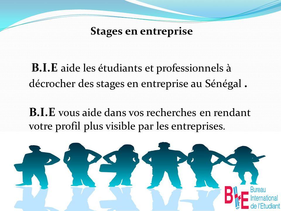 Stages en entreprise B.I.E aide les étudiants et professionnels à décrocher des stages en entreprise au Sénégal.