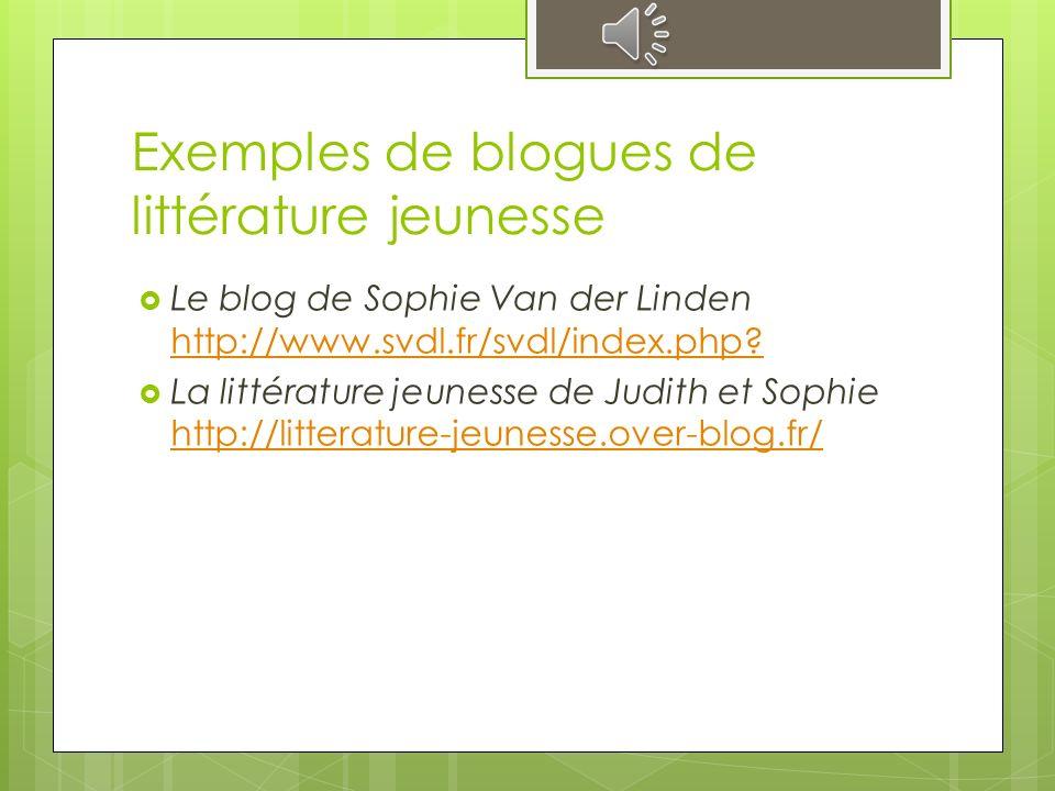Évaluation du blogue La littérature jeunesse de Judith et Sophie selon les critères préétablis de la ALA/RUSA La littérature jeunesse de Judith et Sophie Judith et Sophie.