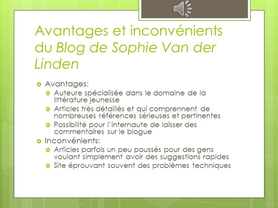 Suggestions de lecture -- Blog de Sophie Van der Linden Très utile pour faire des suggestions de lecture Longs articles qui mettent en relation les œu
