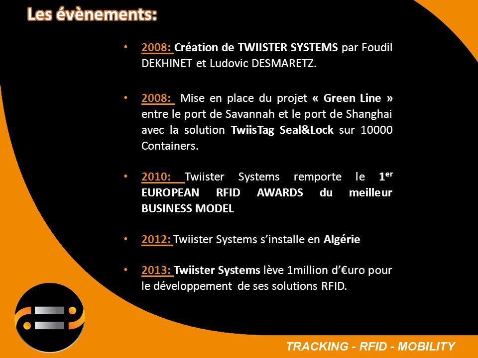 2008: Création de TWIISTER SYSTEMS par Foudil DEKHINET et Ludovic DESMARETZ. 2008: Mise en place du projet « Green Line » entre le port de Savannah et