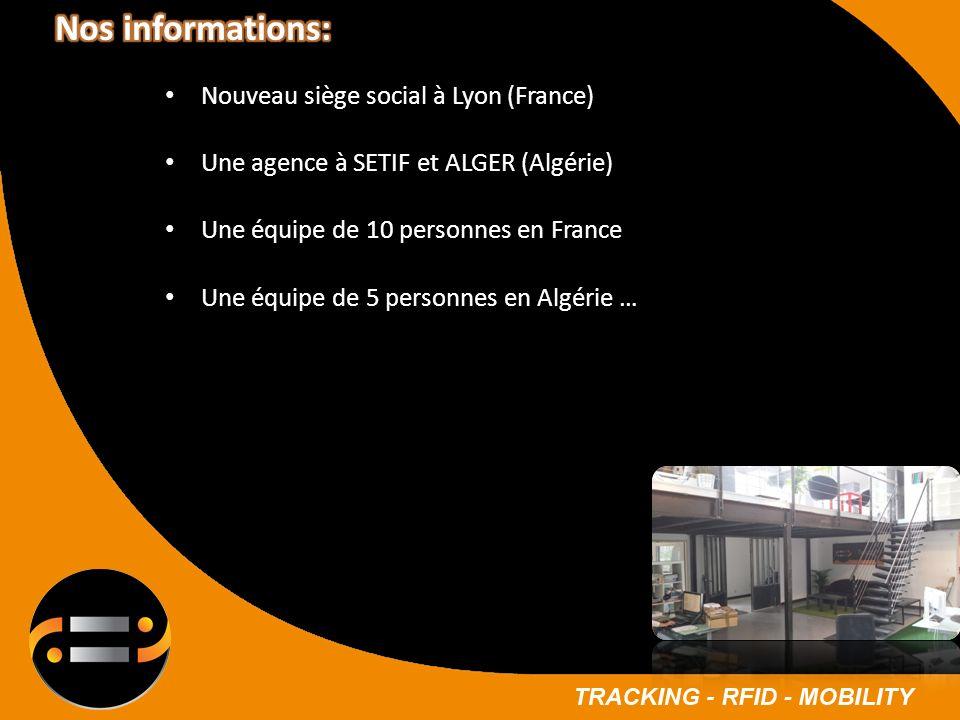 Nouveau siège social à Lyon (France) Une agence à SETIF et ALGER (Algérie) Une équipe de 10 personnes en France Une équipe de 5 personnes en Algérie …