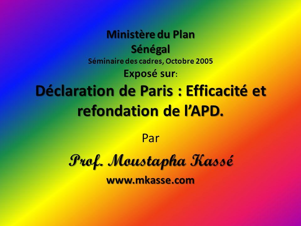 PLAN DE LEXPOSE Introduction: LAPD inefficace et contestée I/ Les principes énoncés par la Déclaration de Paris II/ Refondation de lAPD III/ Quelques propositions pour lamélioration qualitative de lAPD.
