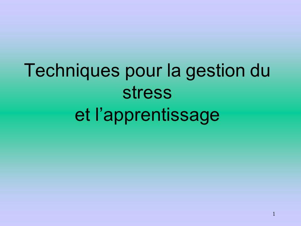 Techniques pour la gestion du stress et lapprentissage 1