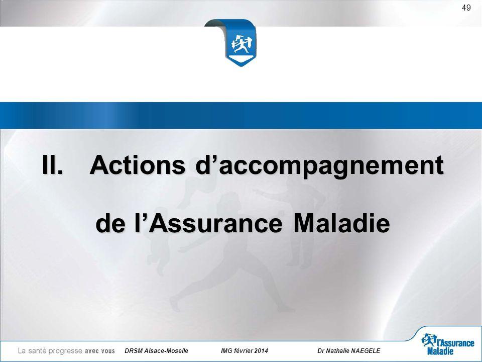 II.Actions daccompagnement de lAssurance Maladie 49