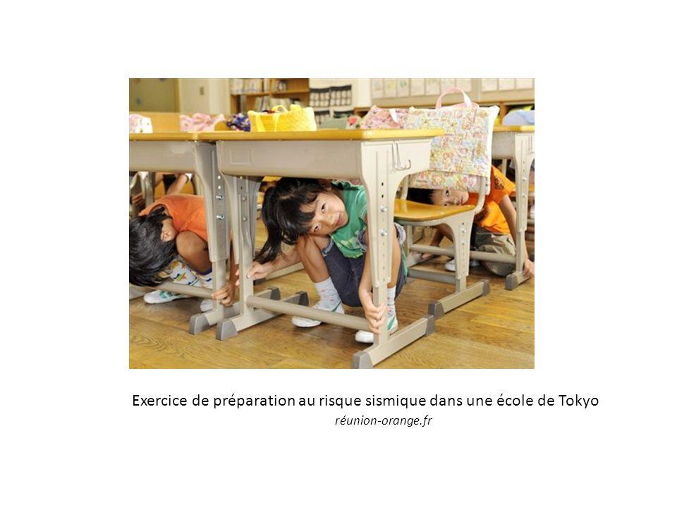 Exercice de préparation au risque sismique dans une école de Tokyo réunion-orange.fr