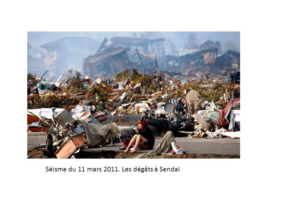 Séisme du 11 mars 2011. Les dégâts à Sendaï