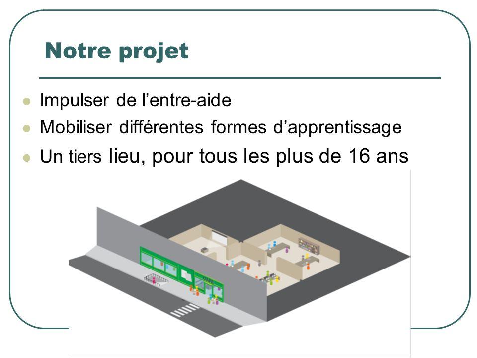 Notre projet Impulser de lentre-aide Mobiliser différentes formes dapprentissage Un tiers lieu, pour tous les plus de 16 ans www.transapi.fr 4