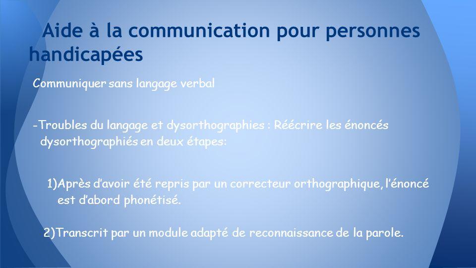 Communiquer sans langage verbal -Troubles du langage et dysorthographies : Réécrire les énoncés dysorthographiés en deux étapes: 1)Après davoir été re