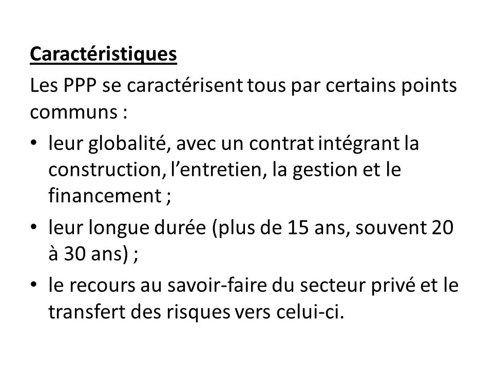 Conception globale dun PPP