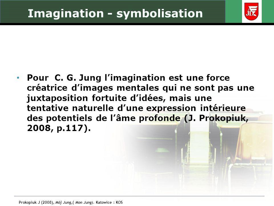 Imagination - symbolisation Pour C. G. Jung limagination est une force créatrice dimages mentales qui ne sont pas une juxtaposition fortuite didées, m