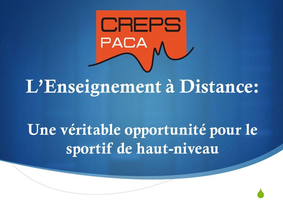 Laurent FRECON 19/03/2014 LEnseignement à Distance: Une véritable opportunité pour le sportif de haut-niveau
