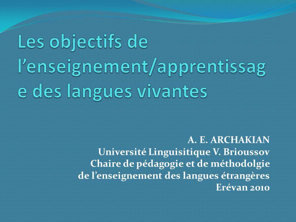 A. E. ARCHAKIAN Université Linguisitique V.