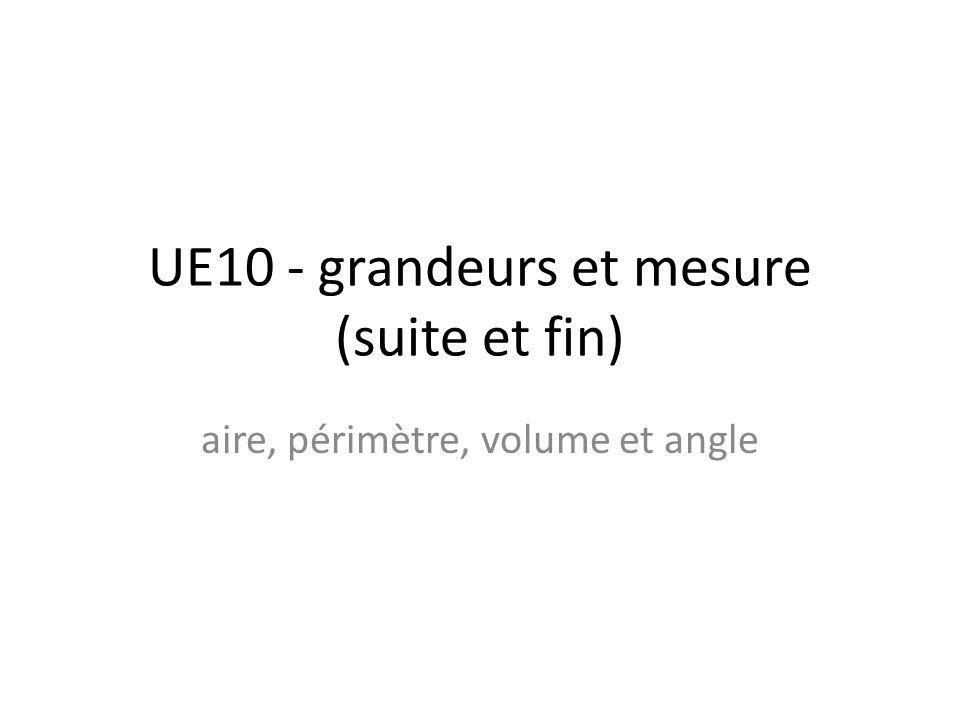 UE10 - grandeurs et mesure (suite et fin) aire, périmètre, volume et angle