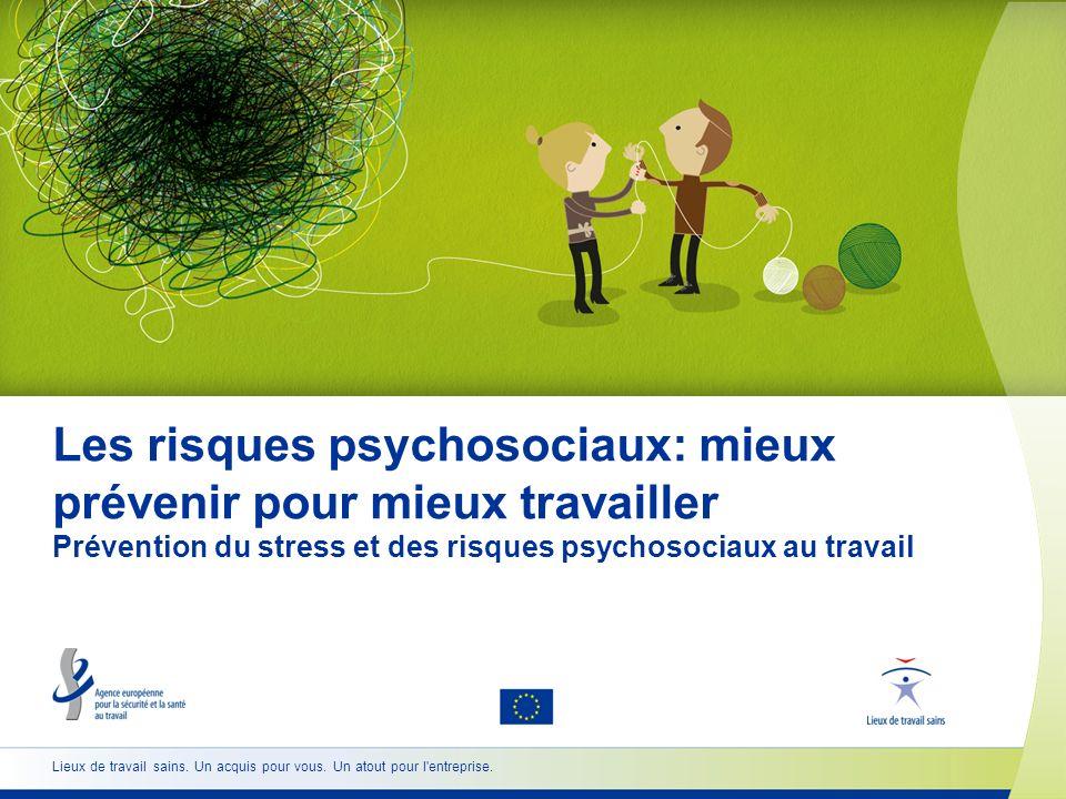 12 www.healthy-workplaces.eu Comment gérer le stress et les risques psychosociaux Être proactif et anticiper les problèmes est la manière la plus efficace de prévenir les risques psychosociaux sur le lieu de travail.