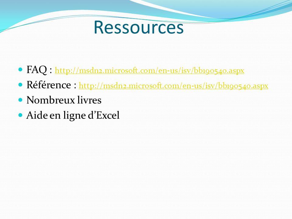 Forms Les forms sont des objets graphiques quon peut afficher dans Excel.